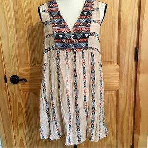 UMGEE Boho Aztec Print Sleeveless Dress
